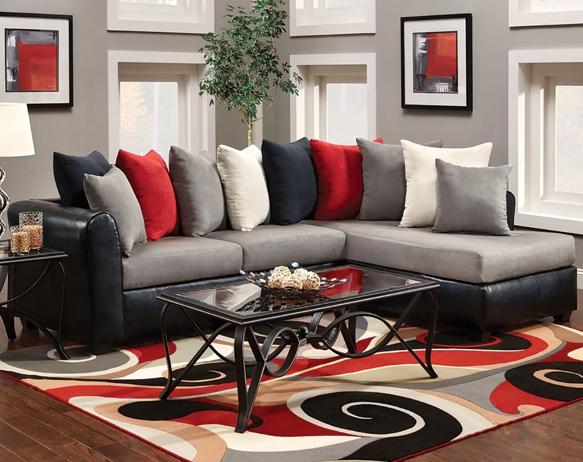 10 Beautiful Red And Black Living Room Ideas red gray and black living rooms traditional kitchen decoration 2020