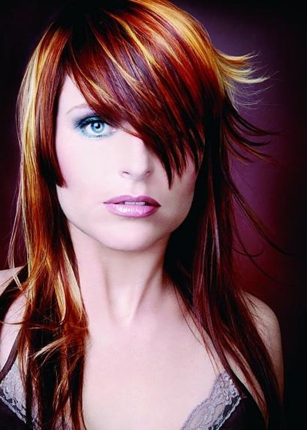 red hair color ideas with highlights - best hair color women over