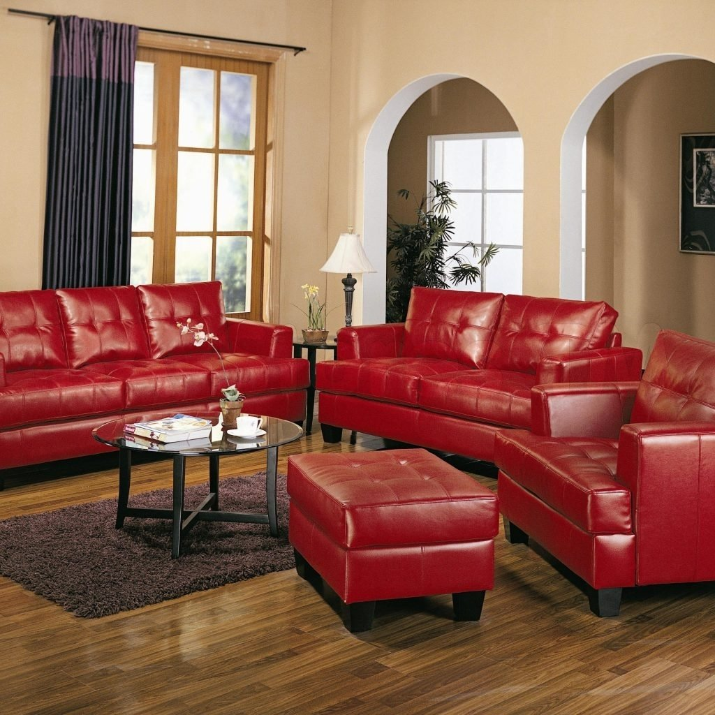 red leather living room chair | http://intrinsiclifedesign