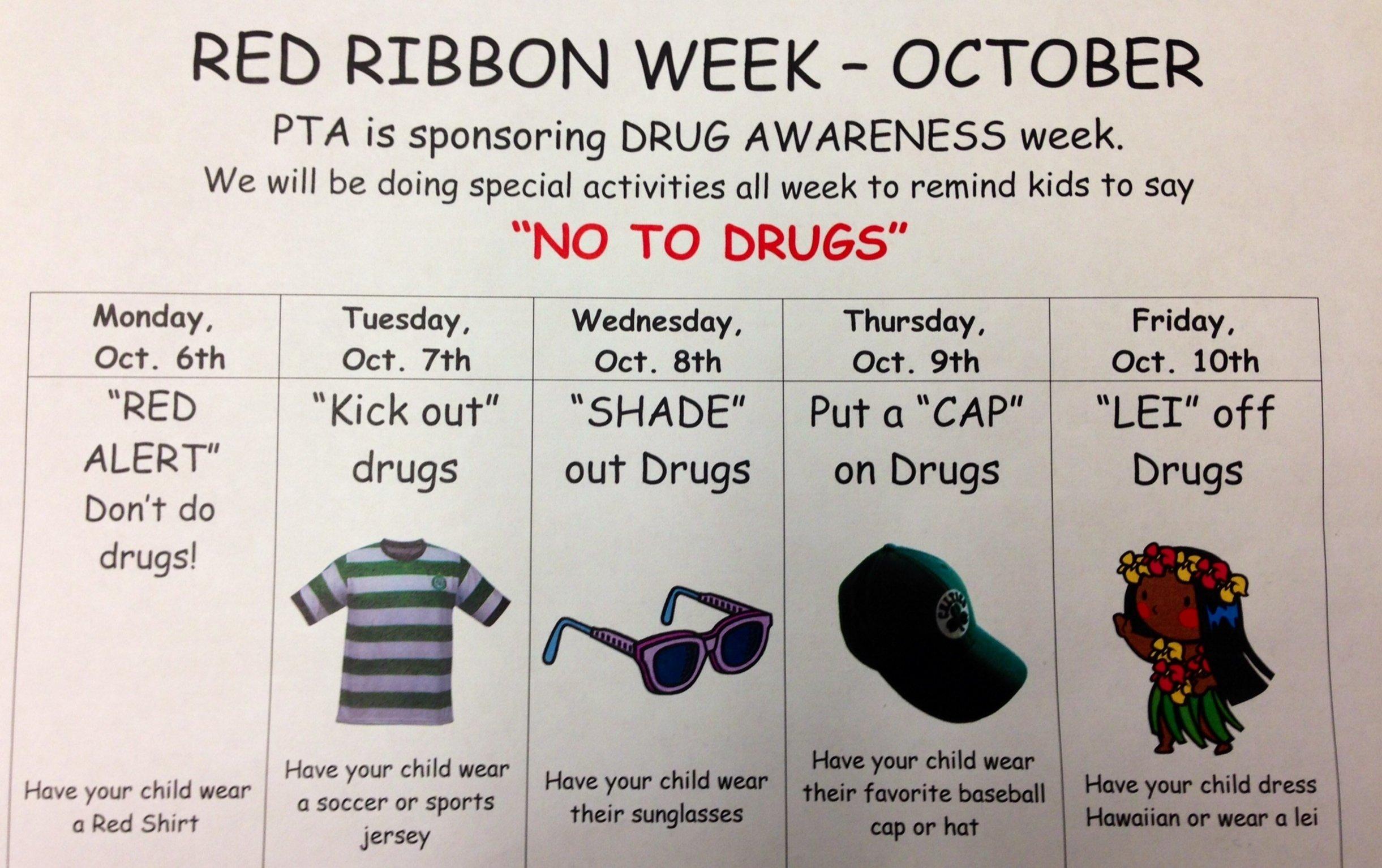 10 Lovable Red Ribbon Week Ideas For Elementary School red ribbon week 21st century educator 1 2020