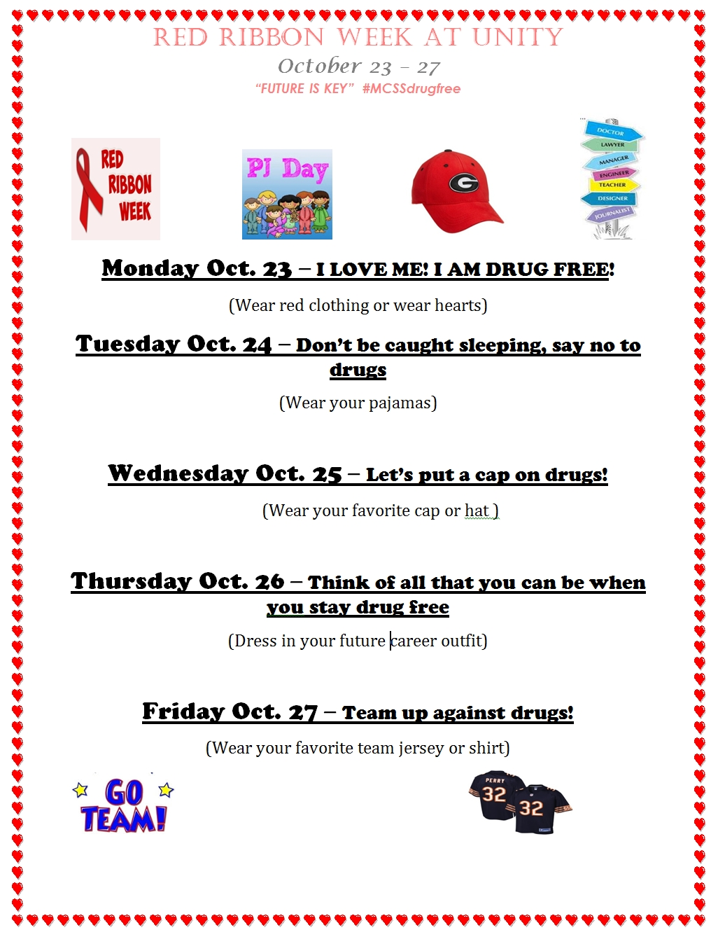10 Lovable Red Ribbon Week Ideas For Elementary School red ribbon week activities at ues october 23rd 27th unity 1 2020