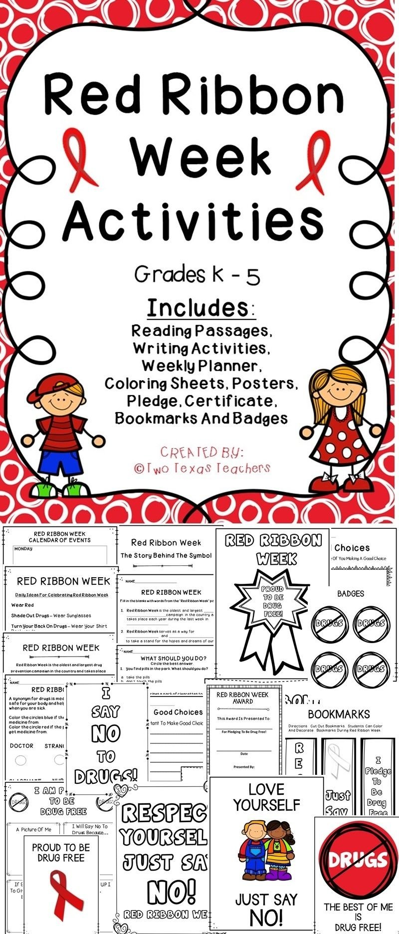 10 Best Red Ribbon Week Ideas For Middle School red ribbon week red ribbon week activities and counselling 2020