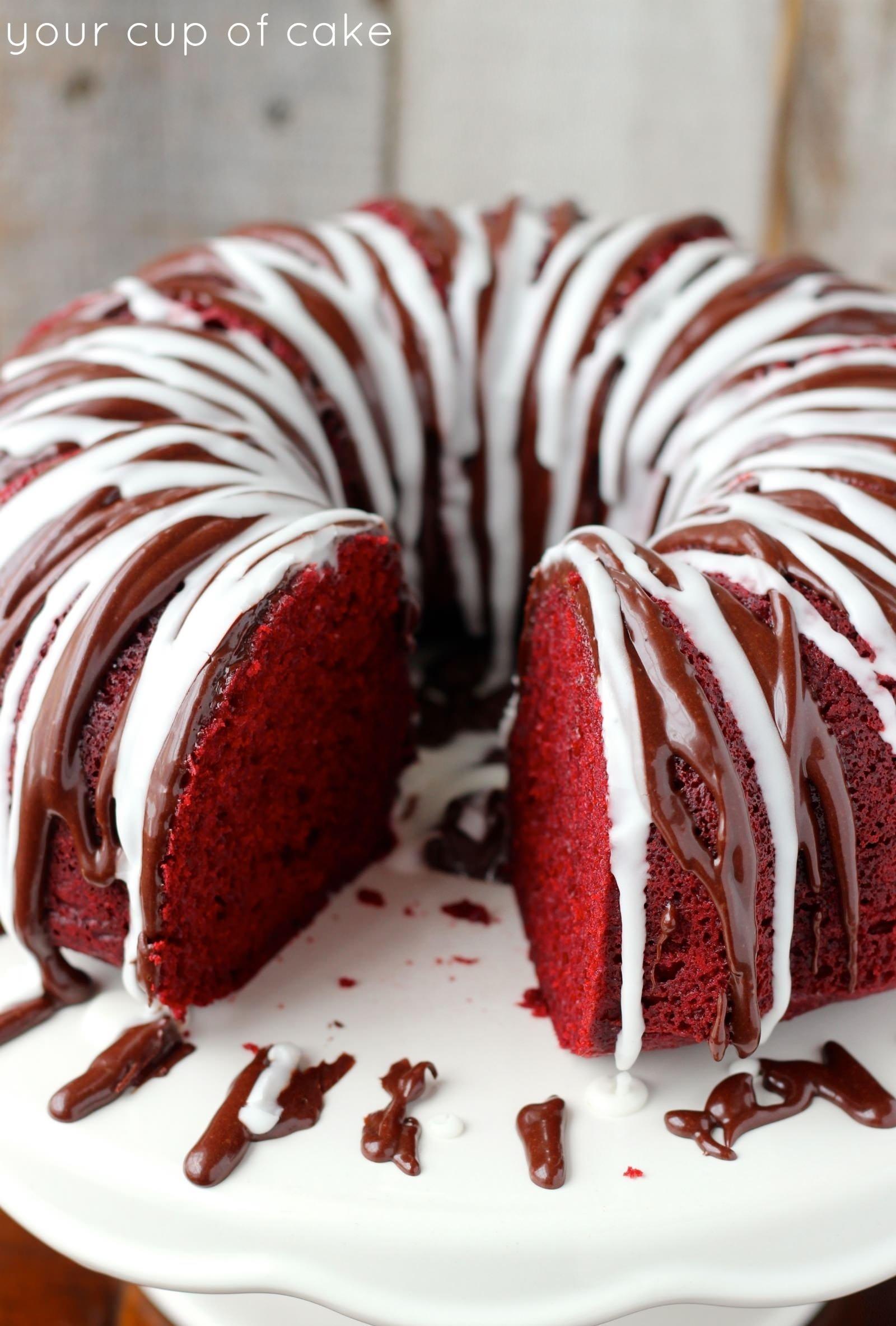 10 Famous Red Velvet Cake Filling Ideas red velvet sour cream bundt cake your cup of cake 1 2020