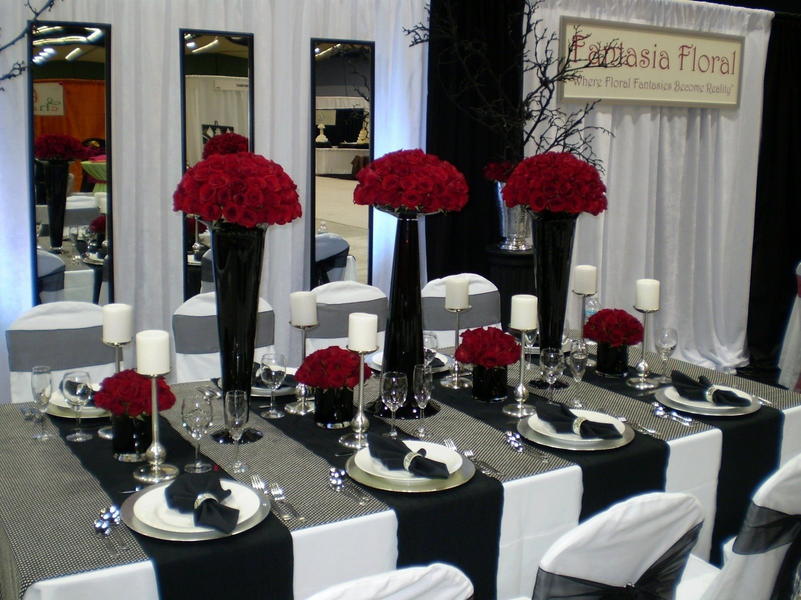 10 Fabulous Red Black And White Wedding Ideas red wedding decorations unique black white red and silver wedding