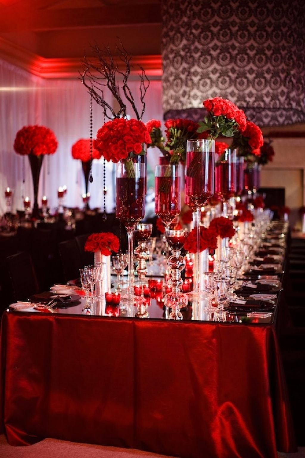 red white and black wedding table decorating ideas | wedding in