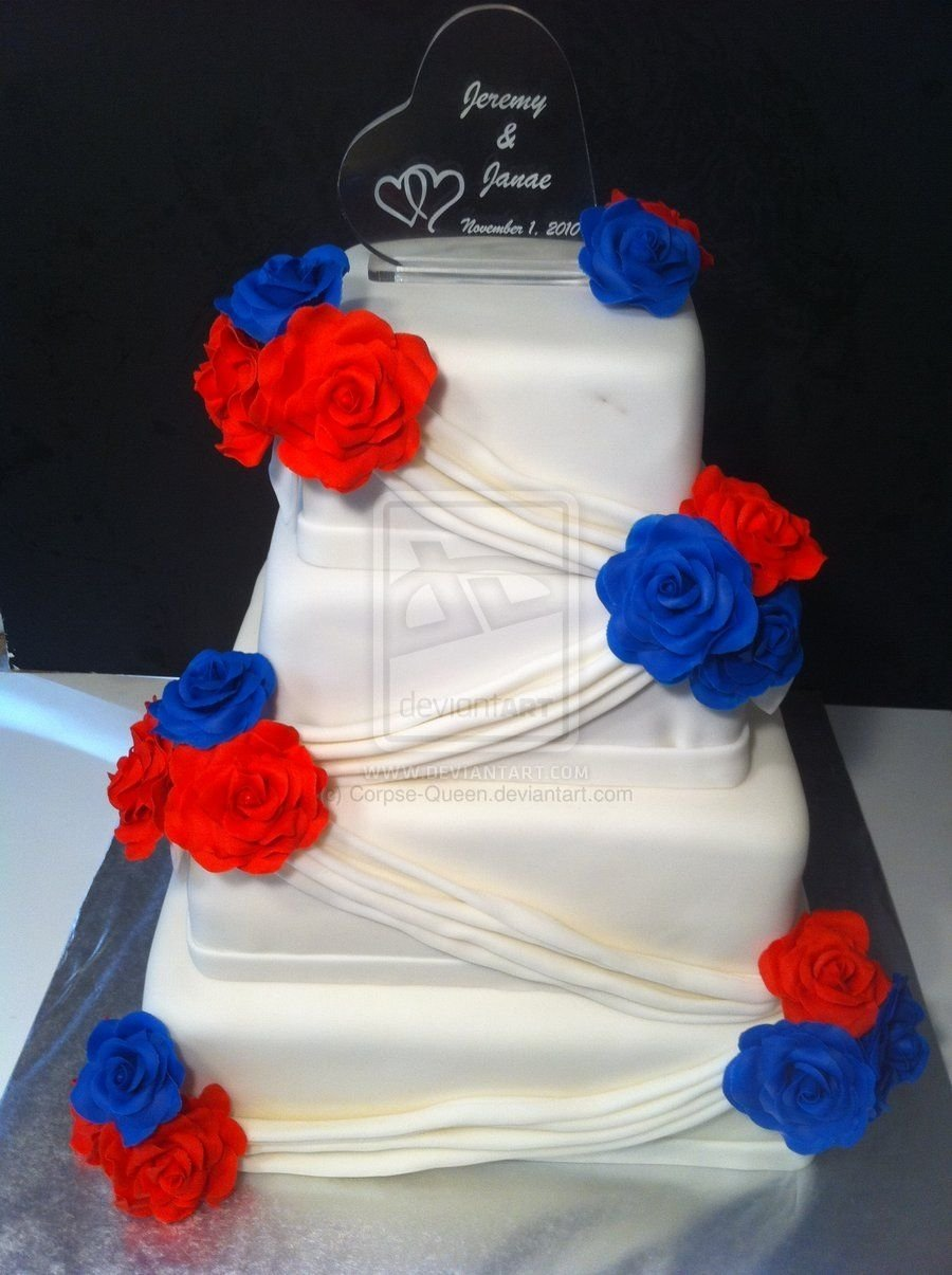 red, white, and blue wedding cake~corpse-queen on deviantart