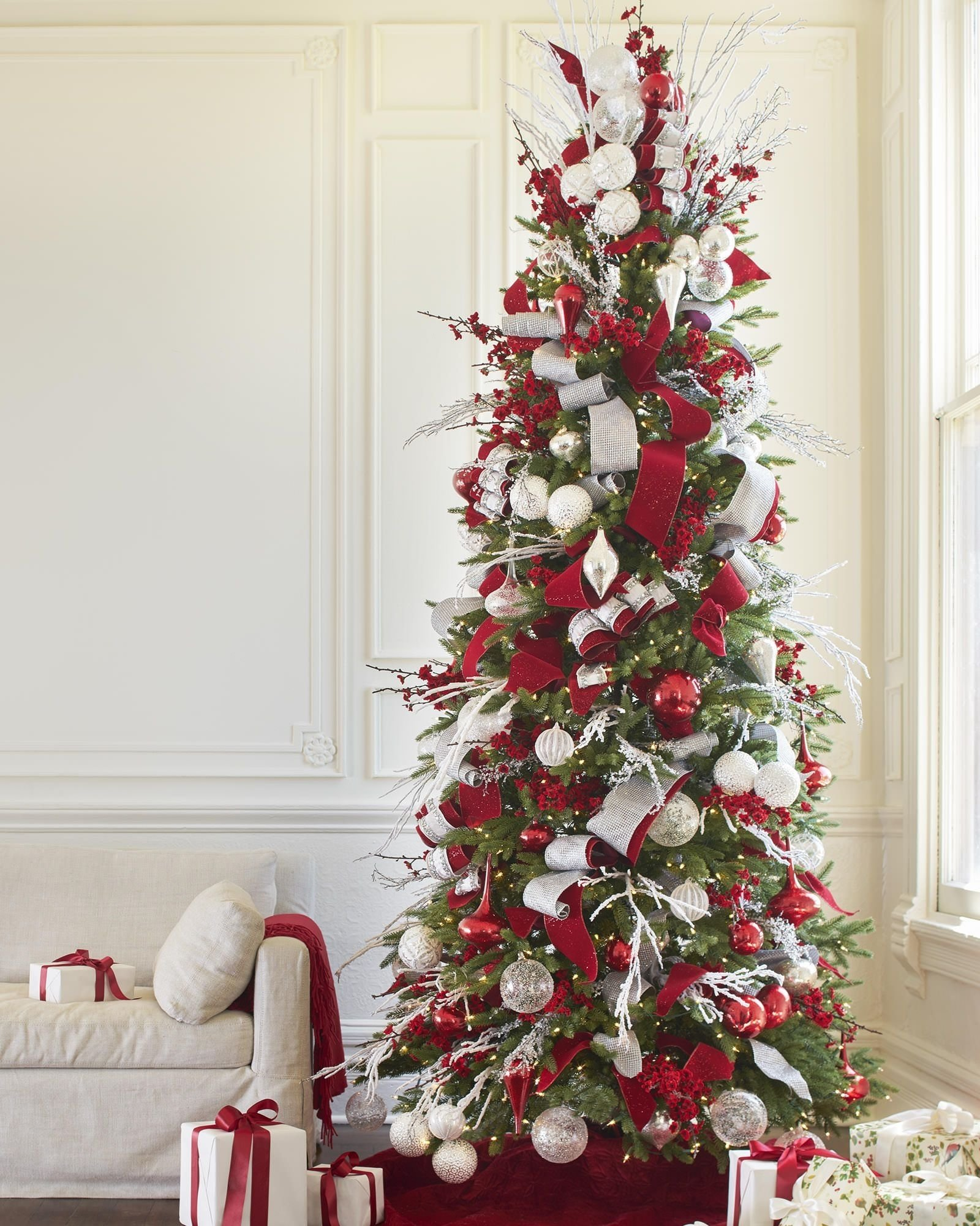 red, white and sparkle ornament set | balsam hill | for the home