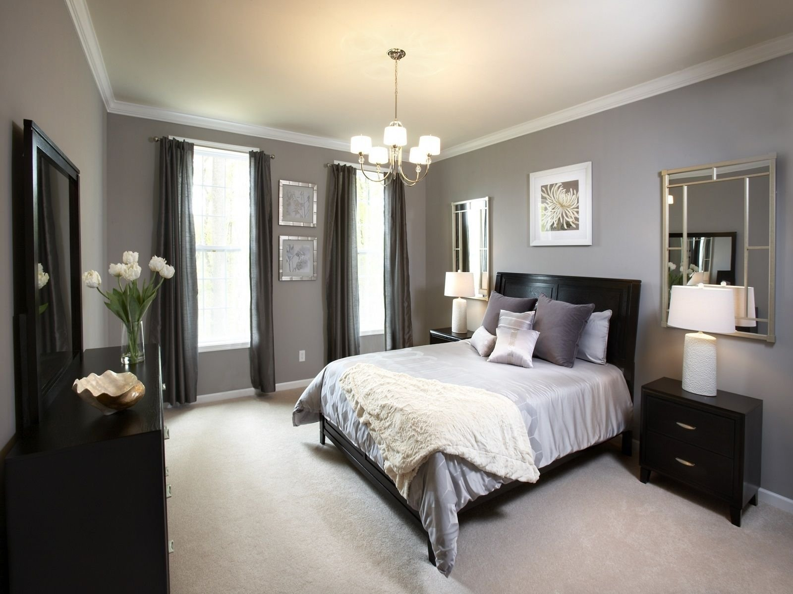 10 Stunning Ideas For Decorating A Bedroom reduced grey bedroom ideas decorating brilliant with black bed and 2020