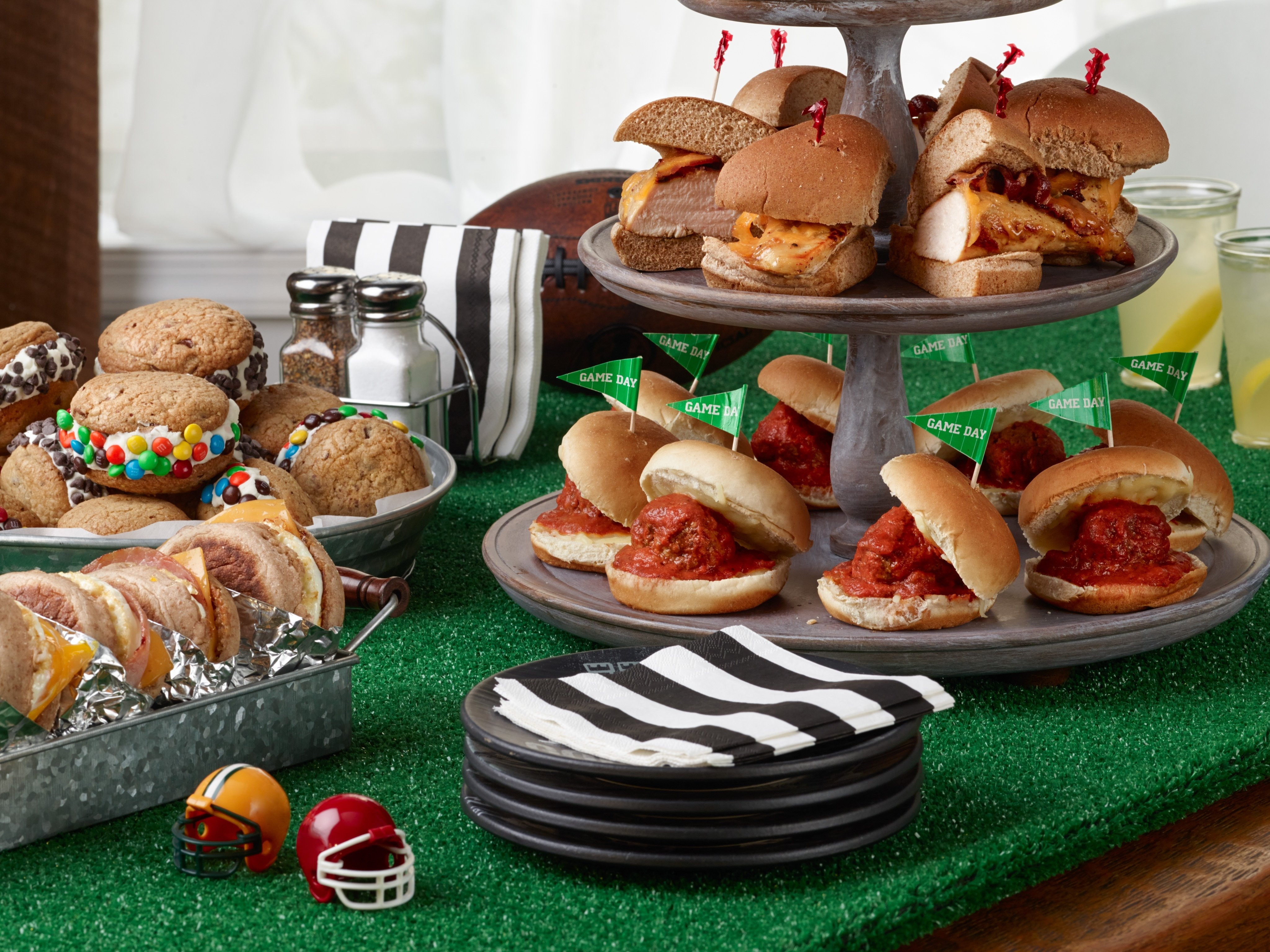 10 Stunning Super Bowl Party Menu Ideas ree drummonds football sandwich party at the ranch food network 2021