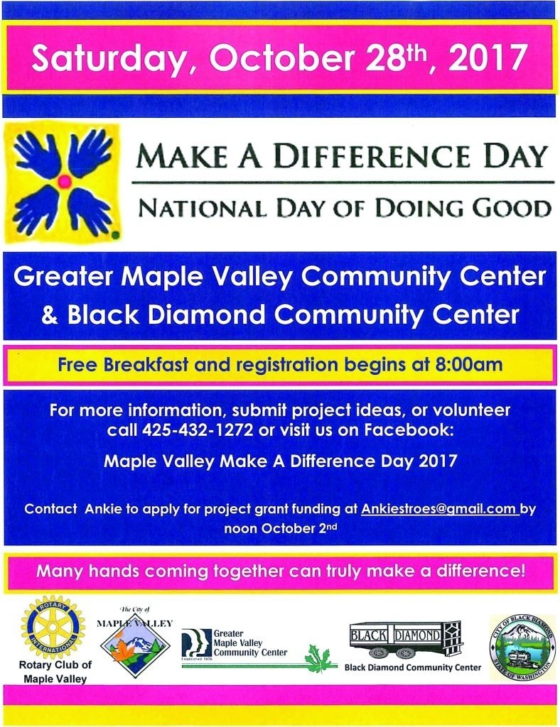 10 Awesome Make A Difference Day Ideas register now for make a difference day voice of the valley 2020