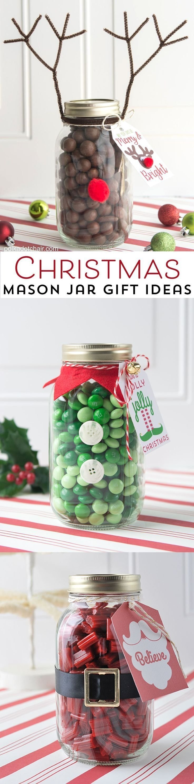 reindeer christmas mason jar gift idea | mason jar christmas gifts
