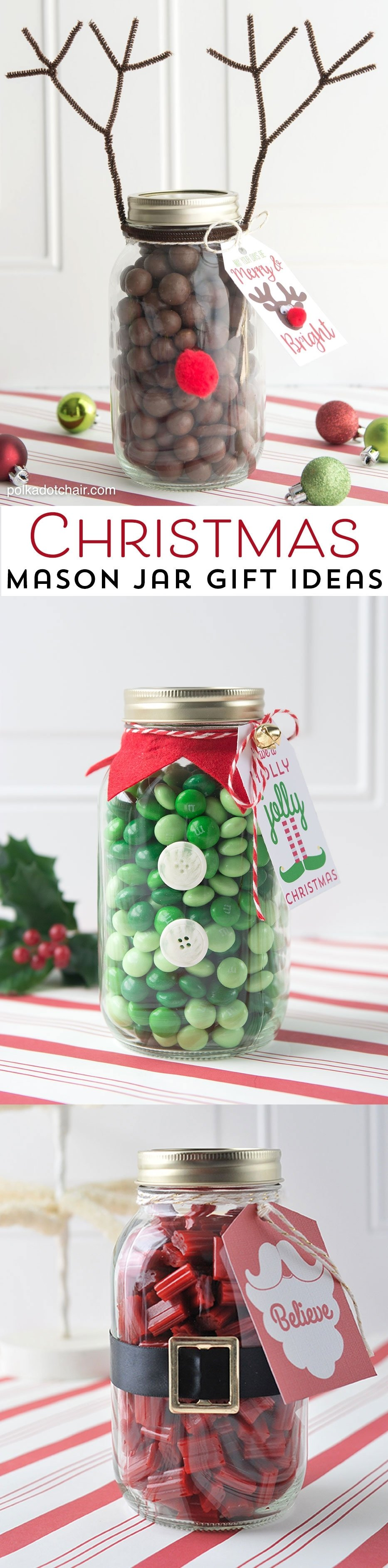 10 Cute Mason Jar Christmas Gift Ideas reindeer christmas mason jar gift idea