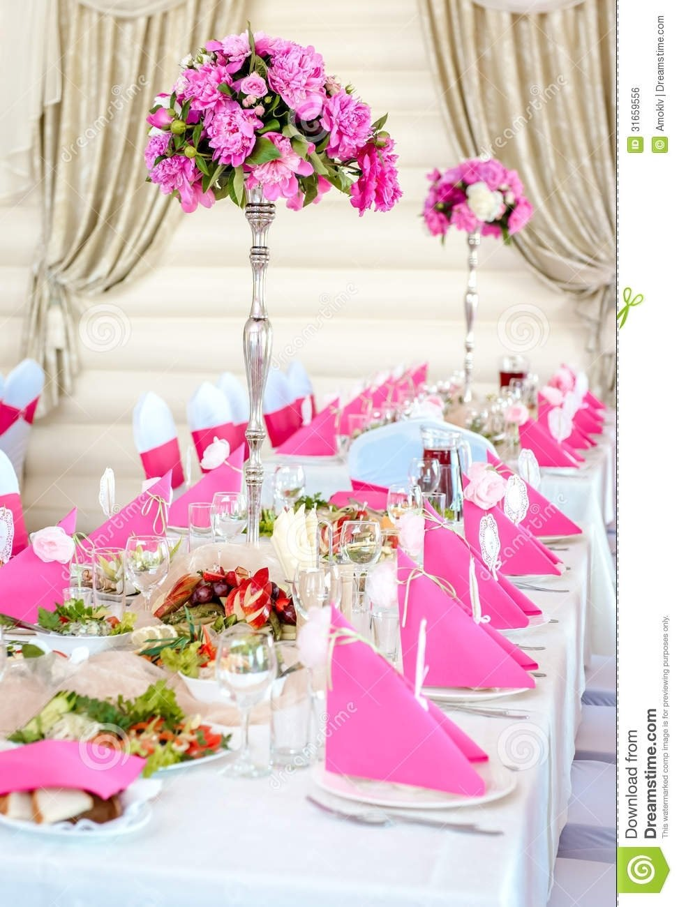 10 Stunning Pink And White Wedding Ideas related image wedding white silver hot pink pinterest white 2021