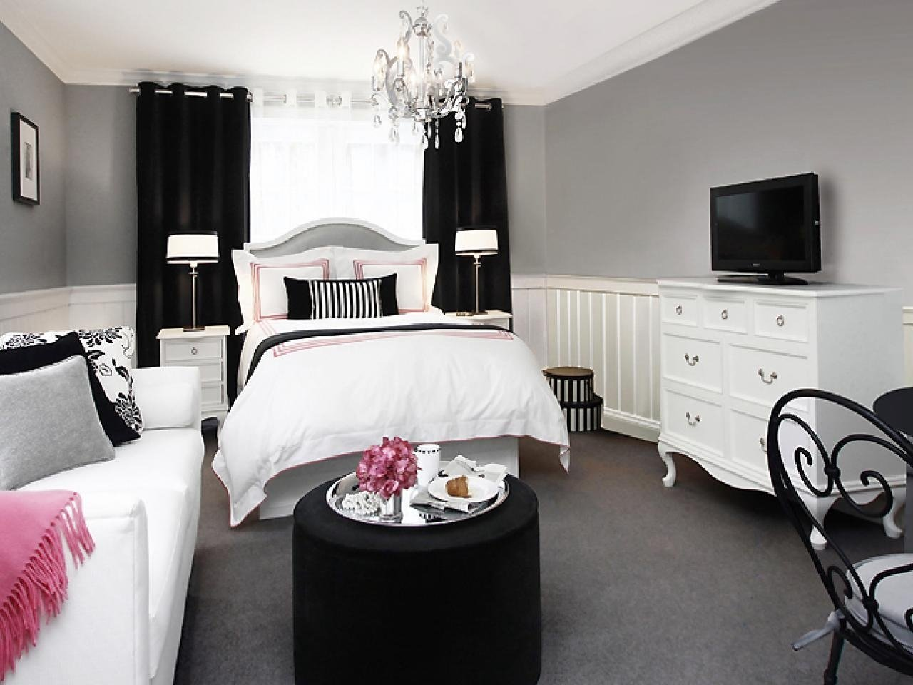 10 Nice Pink Black And White Bedroom Ideas relaxing white bedroom furniture for adults womenmisbehavin 2020