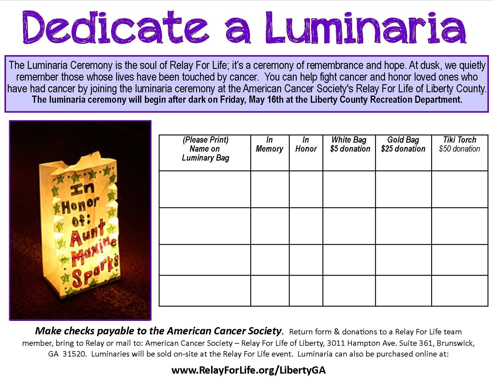 10 Most Recommended Relay For Life Luminaria Ceremony Ideas relay for life luminaria ceremonyliberty county georgia 2020