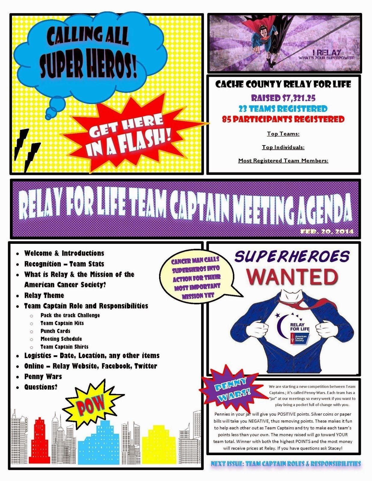 10 Unique Relay Life Event Theme Ideas relay for life superhero theme team captain meeting agenda rfl 1 2020