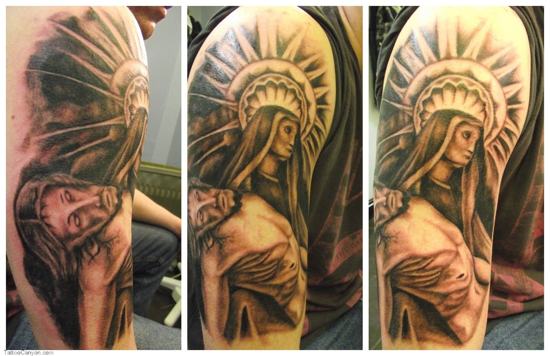 10 Famous Religious Tattoo Ideas For Men religious full sleeve tattoo designs for men tattoo love 2021