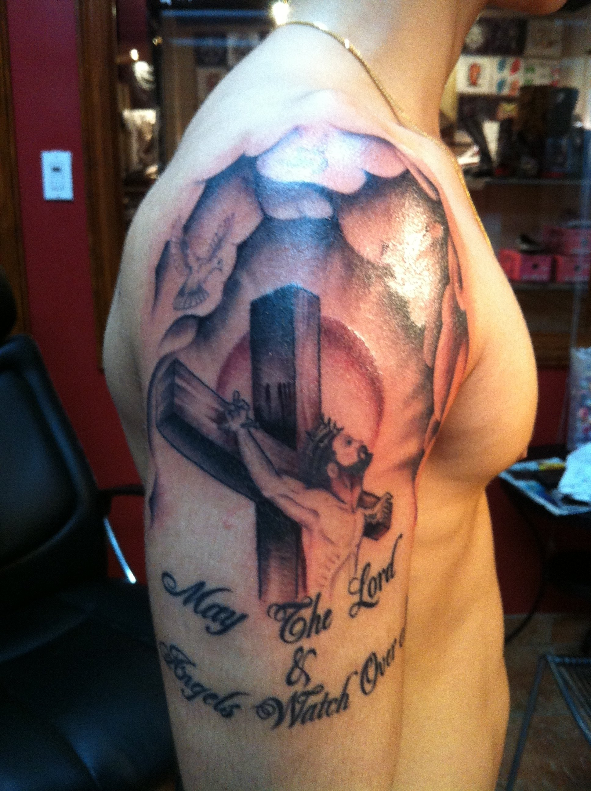 religious tattoos for men related keywords & suggestions - religious