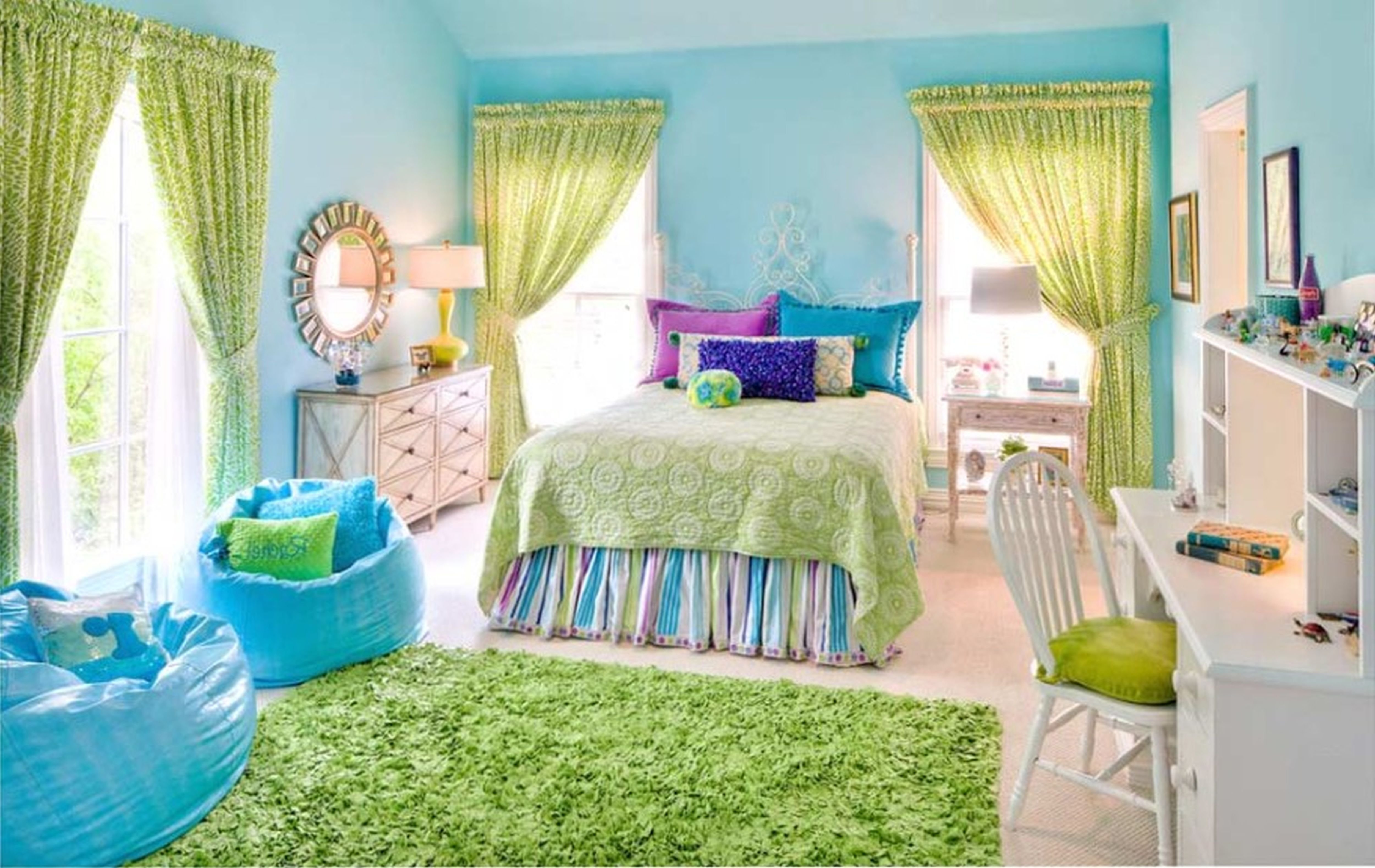 10 Attractive Blue And Green Bedroom Ideas renovate your home wall decor with great stunning blue childrens 2021