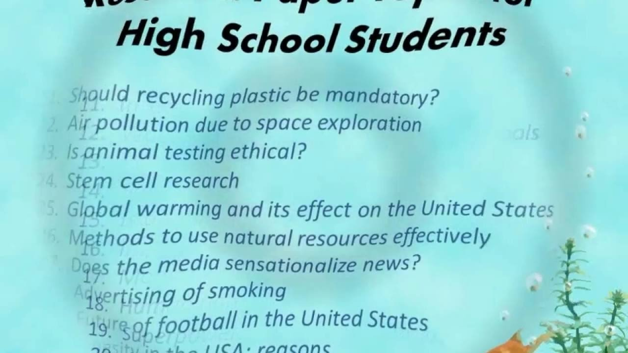 research paper topics for high school students - youtube