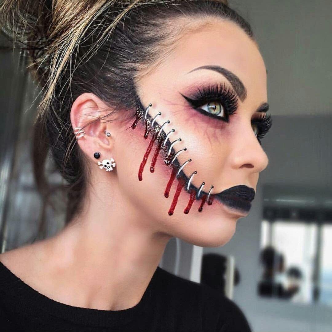 10 amazing halloween scary face paint ideas