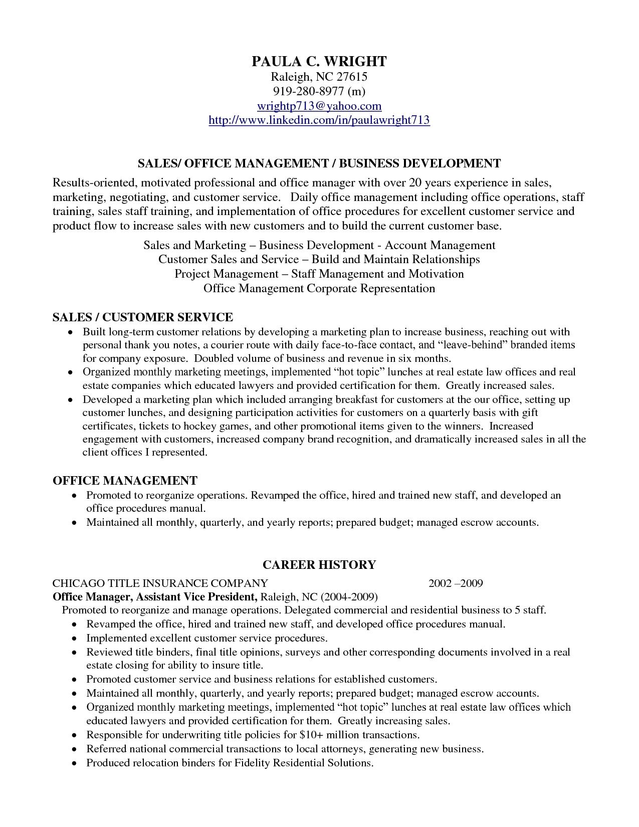 resumerofile examplesrofessional marketing sample manager home