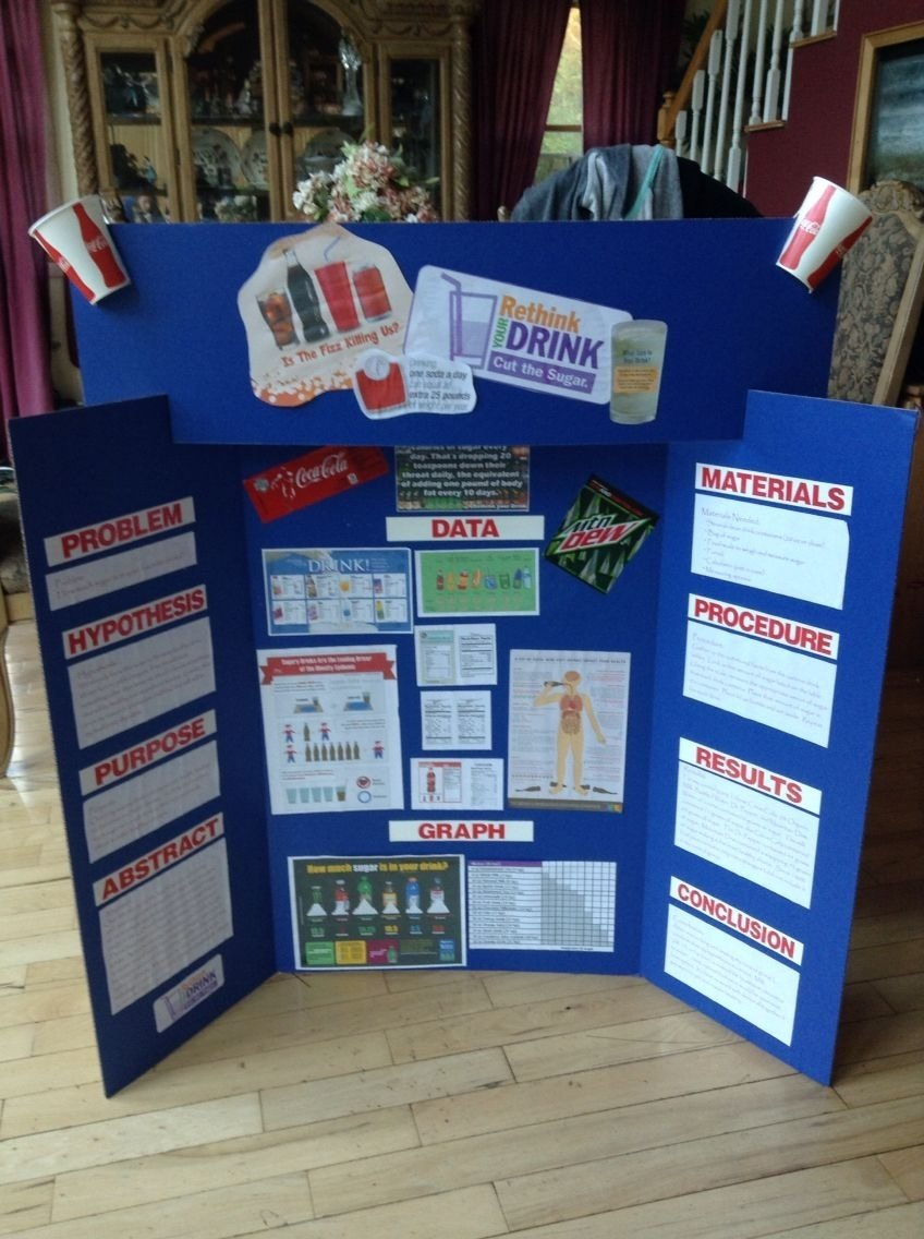 10 Famous Science Project Display Board Ideas rethink your drink 5th grade science fair project presentation 1