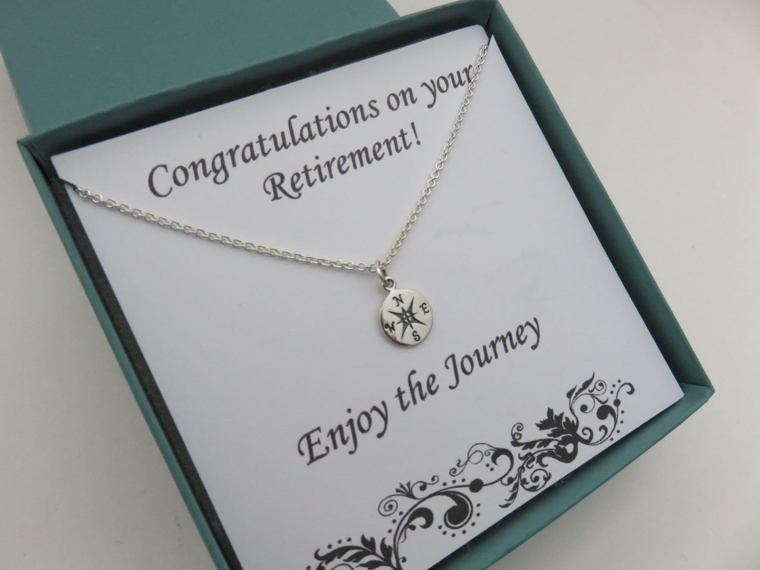 retirement gift for women, graduation gift for her, compass necklace