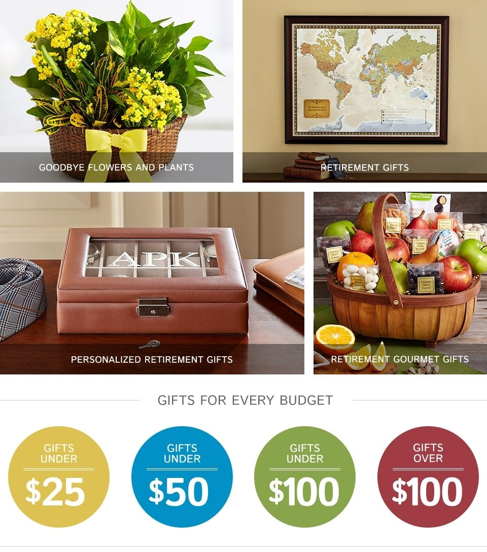 retirement gifts & ideas - gifts
