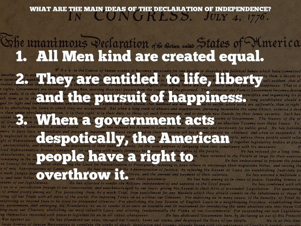 10 Lovable Main Idea Of Declaration Of Independence revolutiontiegan bender 6 2020