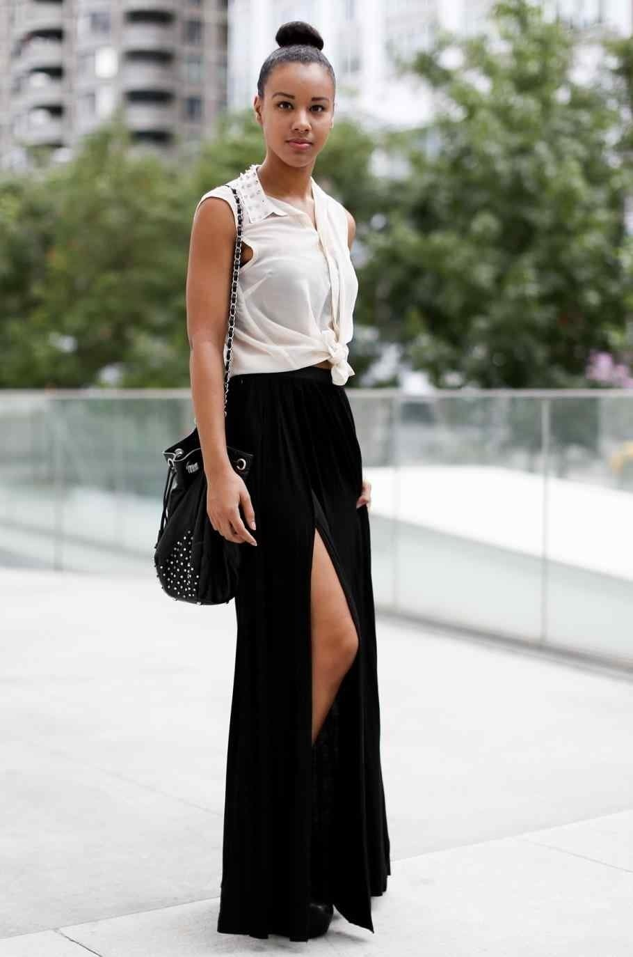 10 Awesome Long Black Skirt Outfit Ideas rhjustthedesigncom what summer edition u muslim girlrhmuslimgirlcom 2020