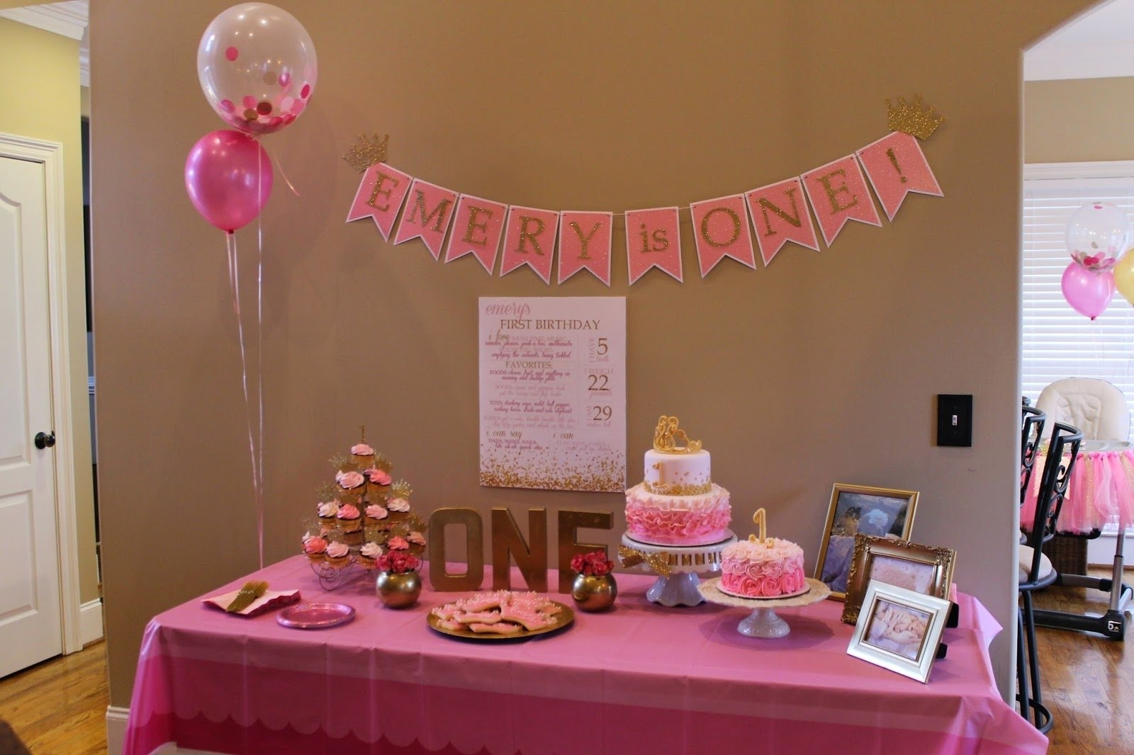 10 Attractive 1St Birthday Princess Party Ideas richly blessed emerys 1st birthday party 1 2021
