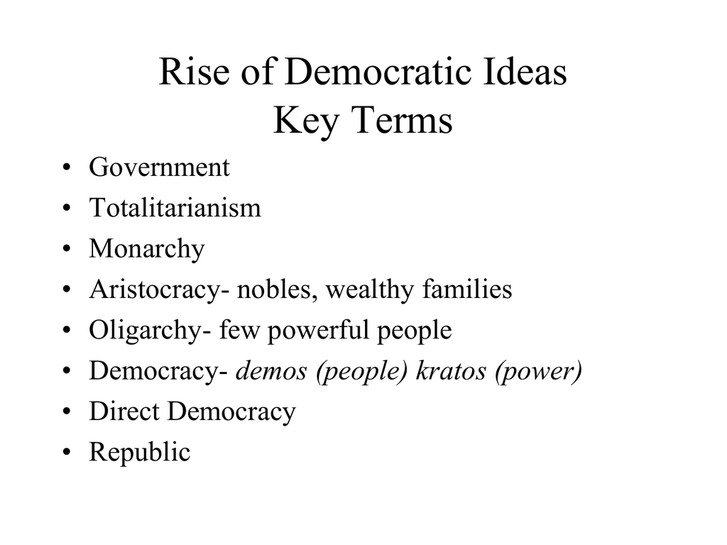 10 Cute The Rise Of Democratic Ideas rise of democratic ideas key terms