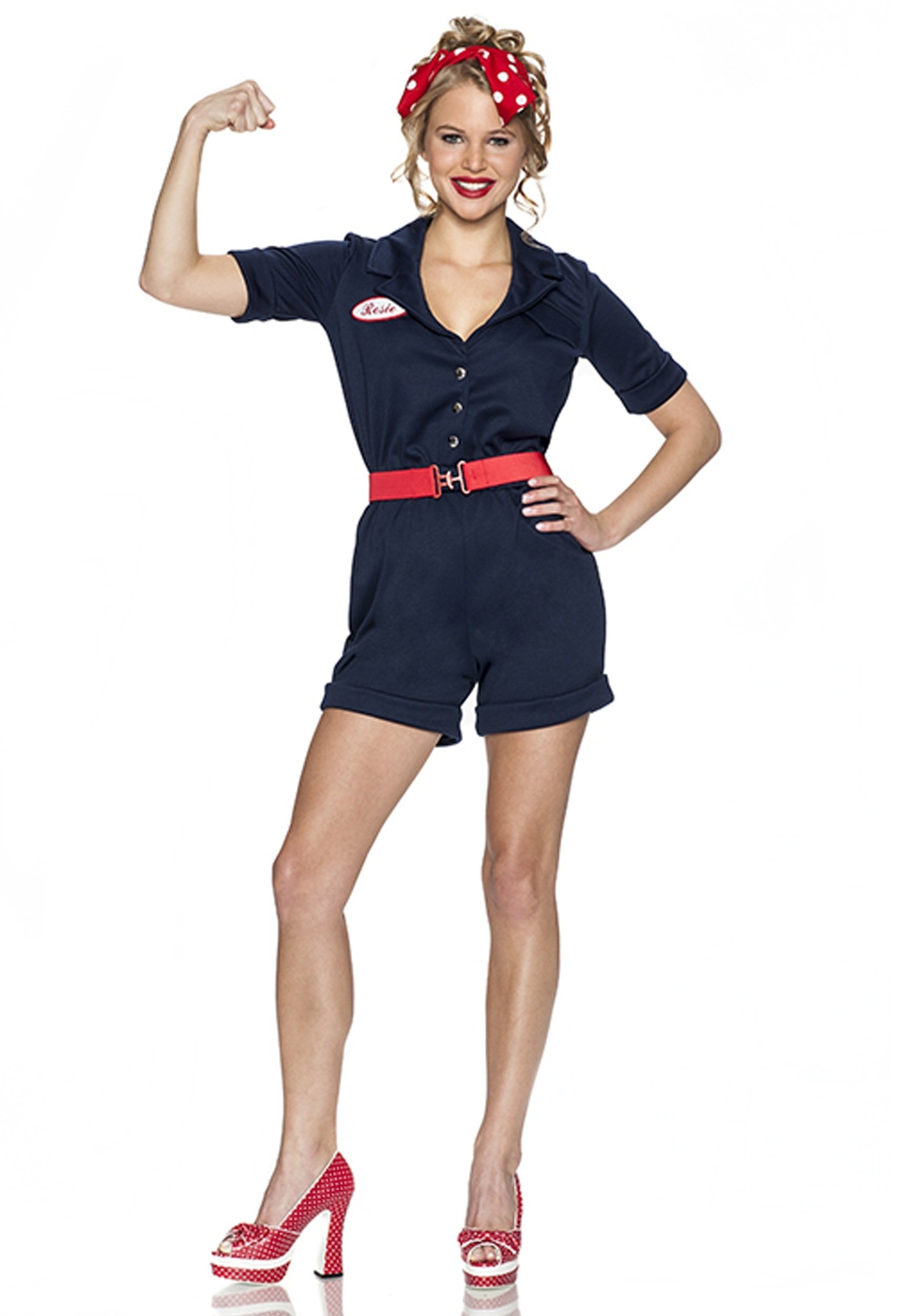 riveting rosie costume, a 1940's throw-back and perfect for our