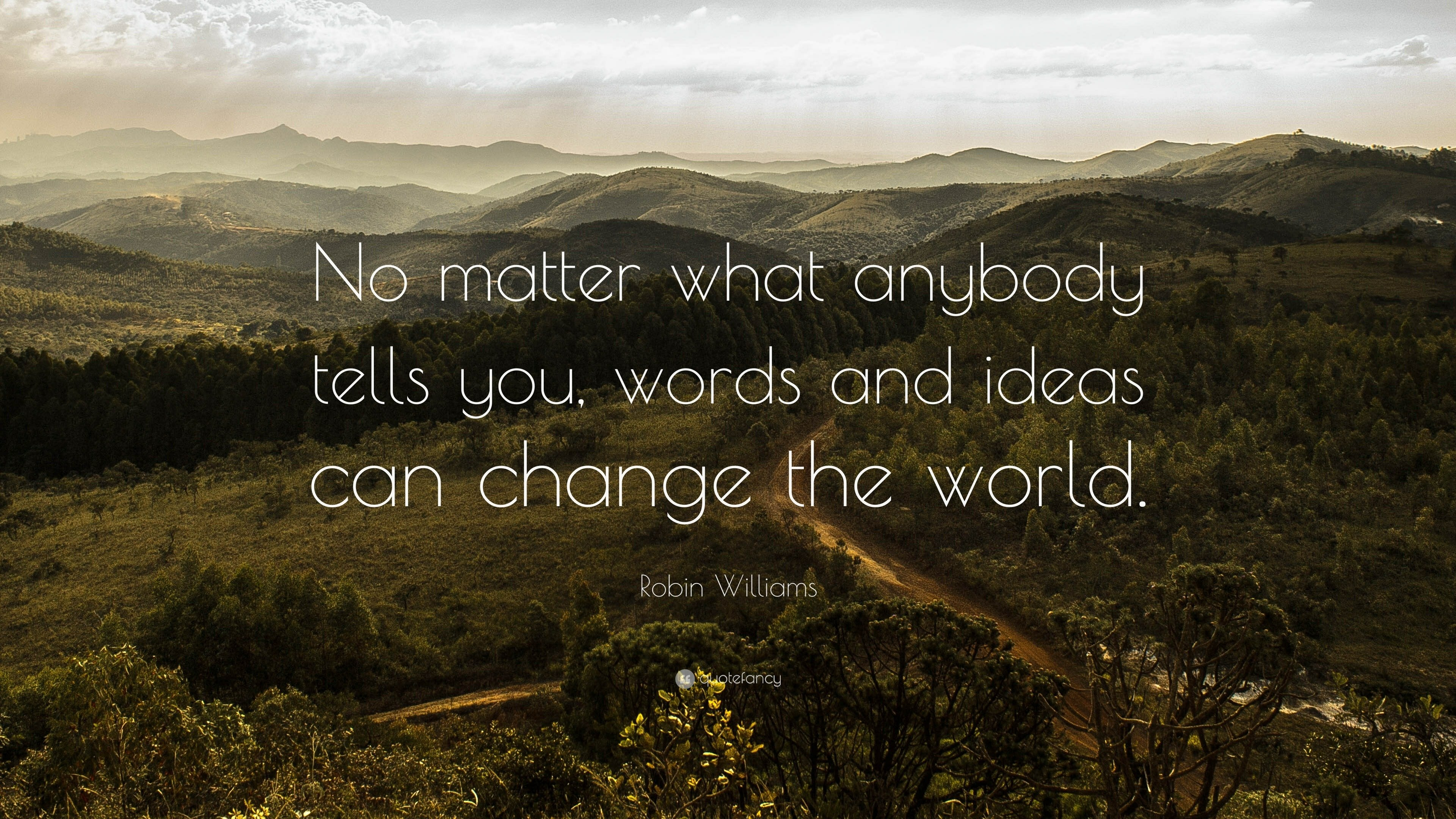 "robin williams quote: ""no matter what anybody tells you, words and"