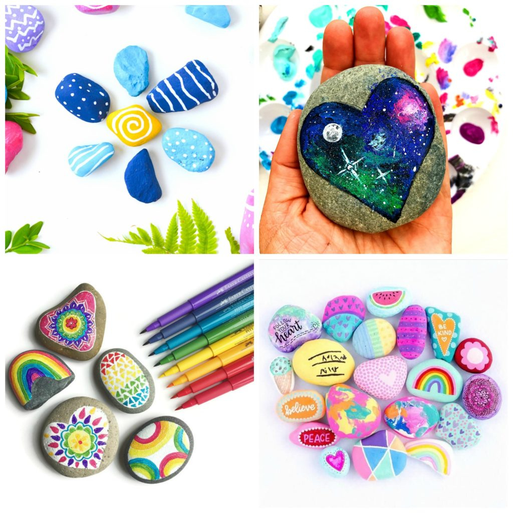 10 Fabulous Rock Painting Ideas For Kids rock crafts for kids 25 creative rock painting ideas e280a2 color made 2 2020