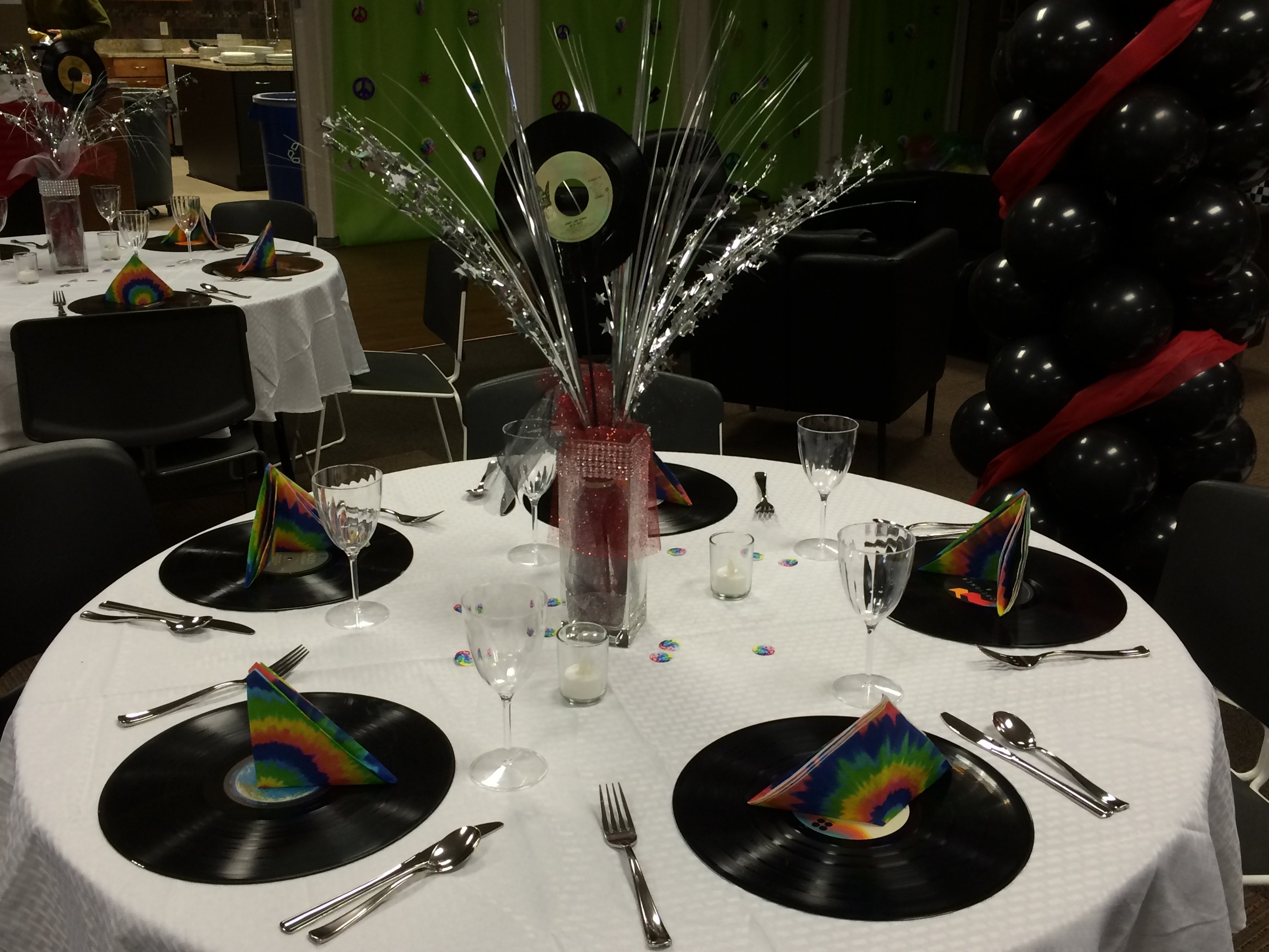 rock 'n' roll prom table decorations | prom ideas | pinterest