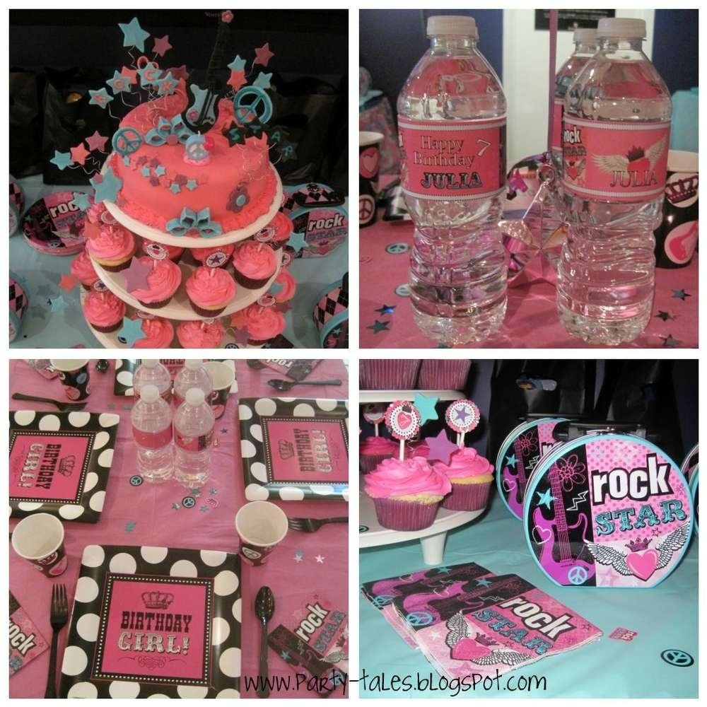 rocker girl rock star birthday party birthday party ideas   photo 2
