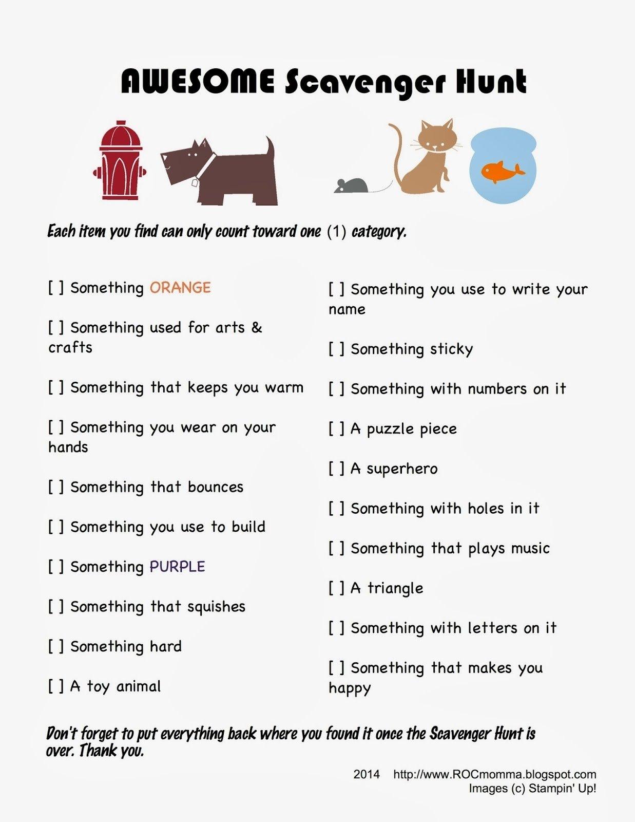 10 Amazing Treasure Hunt Ideas For Adults rocmomma three easy no prep super fun scavenger hunts 6 2020