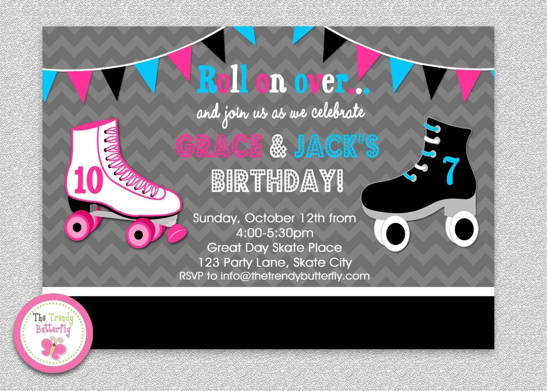 10 Wonderful Roller Skating Birthday Party Ideas roller skating birthday party invitations roller skating birthday