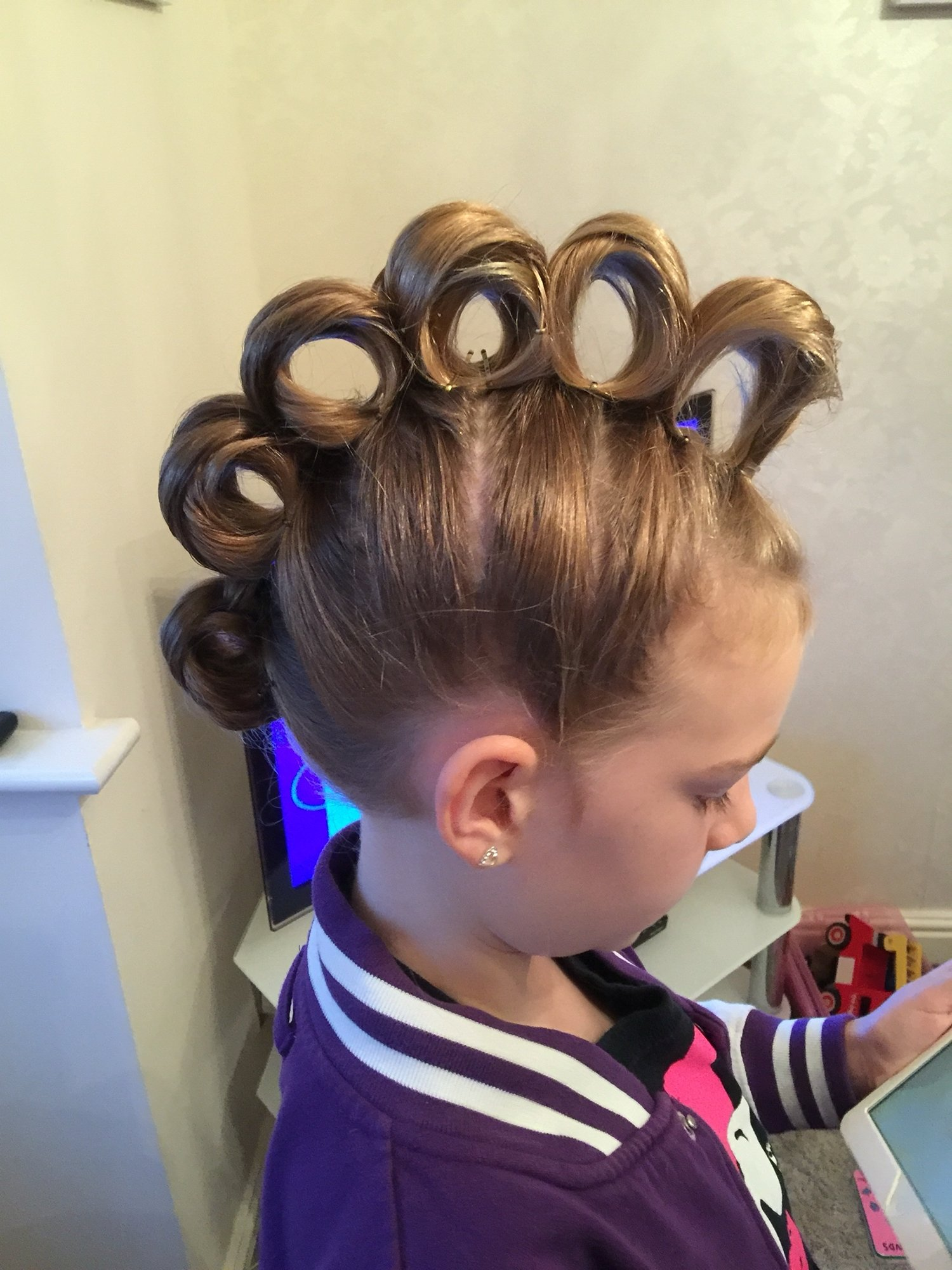 10 Elegant Crazy Hair Day Ideas For Long Hair rolling mohawk for crazy hair day hair pinterest crazy hair 2