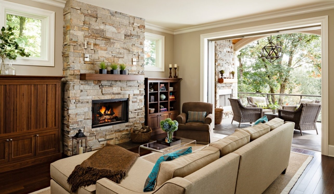 10 Elegant Living Room Ideas With Fireplace room inspiration ideas design for living modern stone fireplace 2021