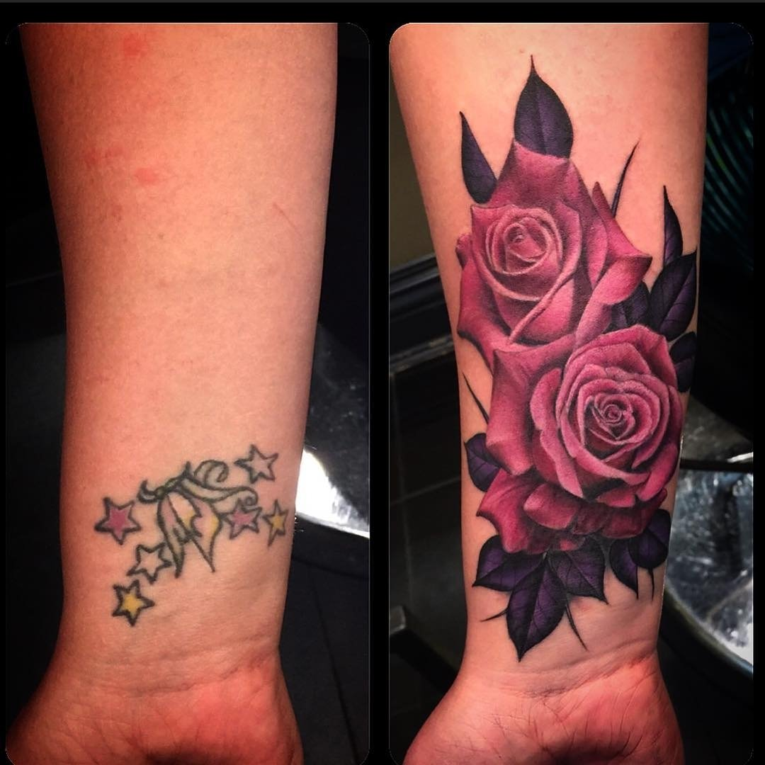 10 Spectacular Cover Up Ideas For Tattoos rose cover up tattoos best tattoo ideas gallery