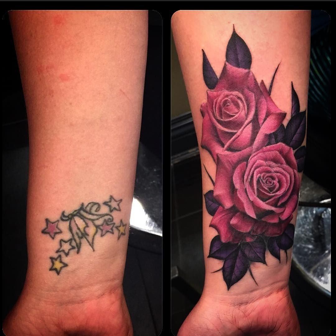 rose cover up tattoos | tattoo, rose and lotus tattoo