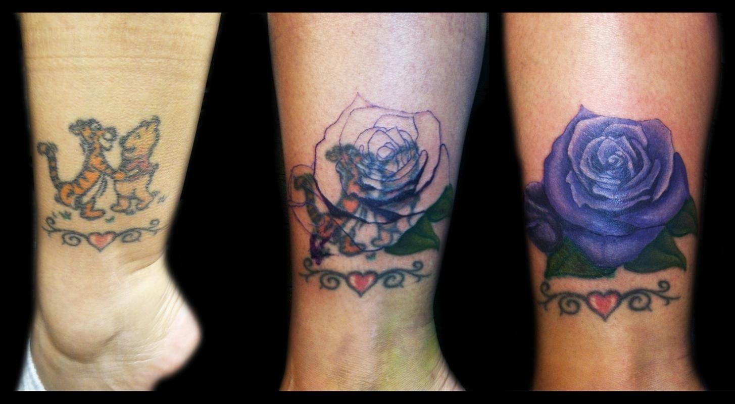 10 Unique Tattoo Cover Up Ideas For Work rose coverupricky borchert tattoonow tattoo pinterest 2020