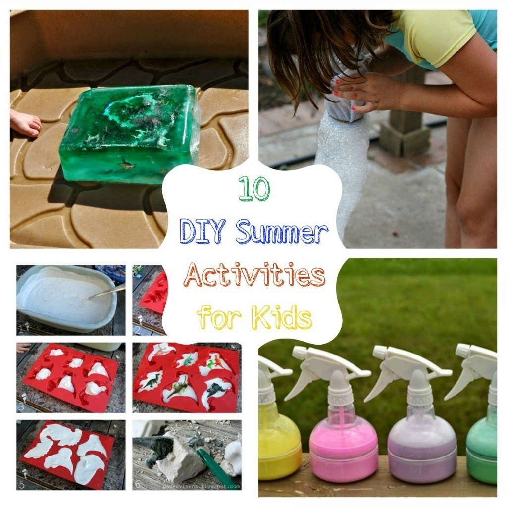 10 Awesome Fun Ideas To Do At Home round up monday 10 diy summer activities for kids fun home things 2020