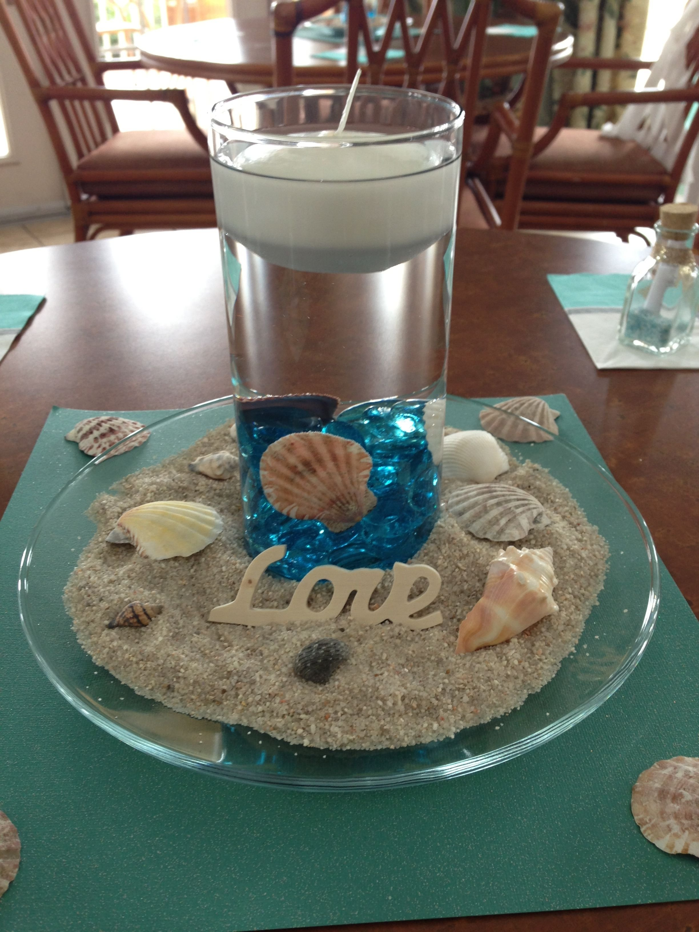 10 Great Beach Theme Bridal Shower Ideas roxie we can totally use those vases for this idea centerpiece