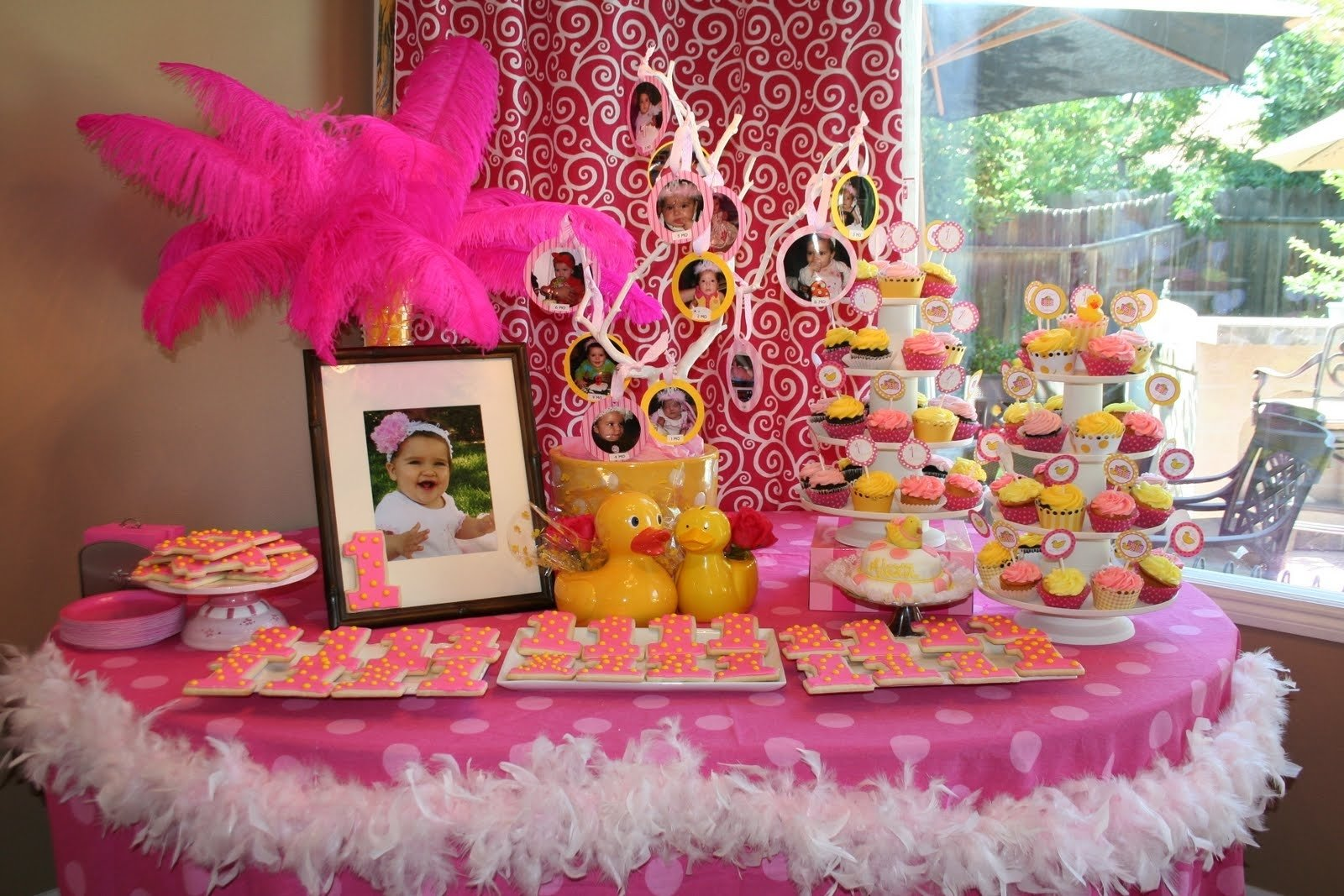 10 Great Party Favor Ideas For 1St Birthday rubber duckee pink and yellow 1st birthday party