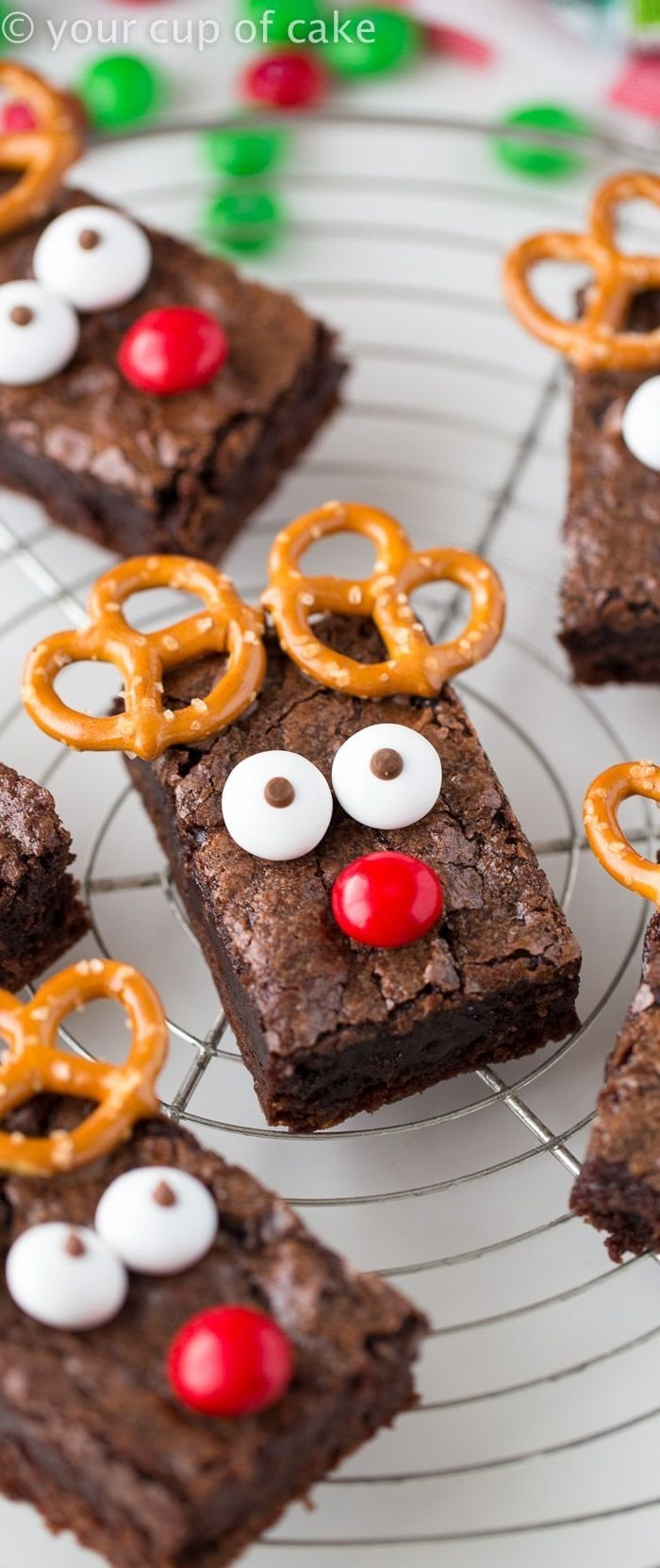 10 Great Christmas Eve Party Food Ideas rudolph the red nose reindeer brownies an easy way to dress up 2021
