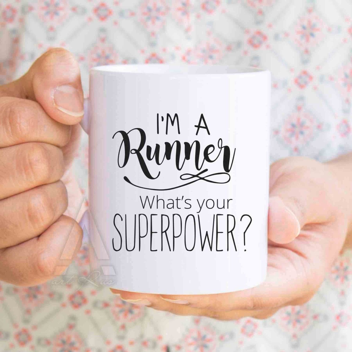 10 Fabulous Gift Ideas For Runners Men running gifts im a runner whats your superpowercoffee mug 2020